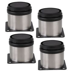 4 pcs 50x50mm Support Réglable Pieds De Meubles Armoires De Cuisine En Acier Inoxydable Cabinet Pieds