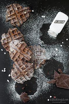 Chocolate Caramel Liege Waffles