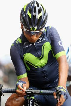 Nairo Quintana of Colombia riding for Movistar Team prepares for the start of the race prior to stage 12 of the Le Tour de France 2017 a 2145km stage...