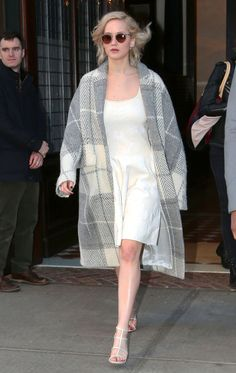 9 FashionLessons That Prove Jennifer Lawrence's Style Is as Relatable as Her Charm - Feminize a Menswear Print  - from InStyle.com