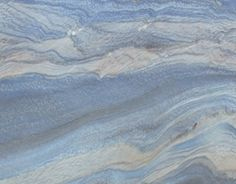 Blue Macaubas quartzite resembles flowing water or a cloudy sky Blue Granite Countertops, Kitchen Countertops, Kitchen Splashback Tiles, Backsplash, Rustic Bathroom Designs, Kitchen Designs, Countertop Materials, Stone Slab, Floor Design