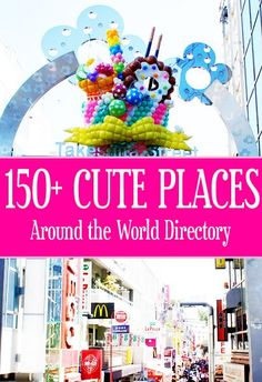 Cute places directory with over 150+ listings around the world.  Including reviews, articles, photos and more.  Definitely a great page for those who love to travel and visit cute places.