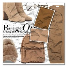 """""""Beige Outfit"""" by kimbo20111 ❤ liked on Polyvore featuring A.L.C., Steve Madden and Yves Saint Laurent"""