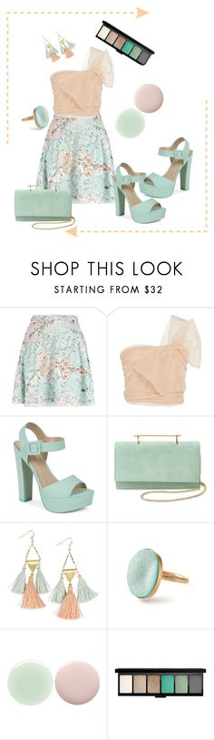 """peach/mint"" by pam-doel on Polyvore featuring MSGM, RED Valentino, Call it SPRING, M2Malletier, NAKAMOL and Nails Inc."