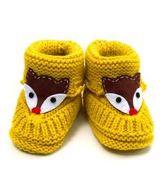 2243a0d712d Fuzzy knit booties are topped with a playful fox that makes those tiny toes  ready for new adventures in or out of the crib. Nicole Whelan · Zulily Picks