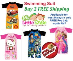 Buy 2 swimsuit and enjoy FREE wm shipping worth RM7.