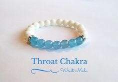 Throat Chakra bracelet  Feel the comforting properties of the chakra stones while wearing the mala bead bracelets we created. This is healer bracelet