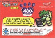 Amici Cucciolotti 2016: Retro Figurina n. 480 Fratino