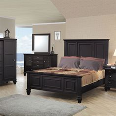 25 Dark Wood Bedroom Furniture Decorating Ideas | Black furniture ...