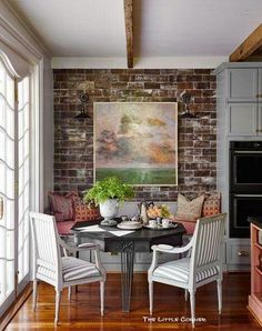 House Beautiful Kitchen of the Year - Ken Fulk Kitchen Design - Kitchen Decor Magazine Kitchen Nook, Kitchen Redo, Kitchen Remodel, Kitchen Dining, Eat In Kitchen, Kitchen Seating Area, Kitchen Banquette, Banquette Seating, Kitchen Small