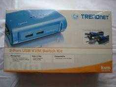 Trendnet 2-port USB KVM Switch Kit NIB Includes Cables TK-207k #TRENDnet
