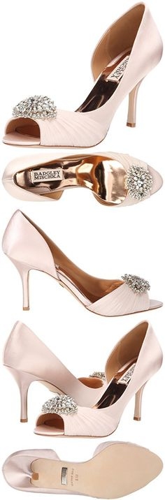 Badgley Mischka Women's Pearson D'Orsay Pump, Light Pink, 8.5 M US