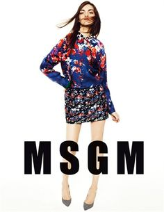 MSGM swagggg. Love it! The advertising campaign of MSGM Fall Winter 2013-14 collection - Vogue.it