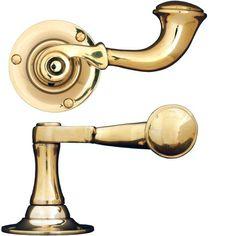 Dörrhandtag posthorn / Doorhandle http://www.byggfabriken.com/sortiment/dorrhandtag/klassiska-dorrahandtag/info/produkter/560-171-trycke-posthorn/