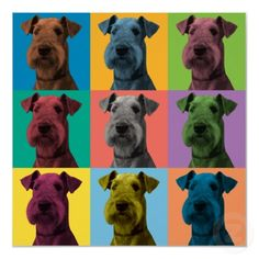 Airedale Terrier Pop-Art Poster by dogpopart