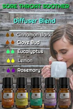 Essential Oil uses and recipes including blends, diffusing recipes, topical recipes, aromatherapy uses and recipes. Essential Oils For Colds, Cinnamon Essential Oil, Essential Oil Diffuser Blends, Lemon Essential Oils, Essential Oil Uses, Oils For Sore Throat, Aromatherapy Recipes, Eucalyptus Essential Oil, Diffuser Recipes