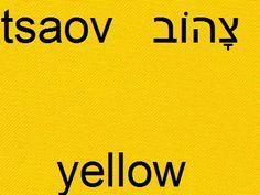 yellow #hebrew