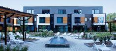Quartier Pointe Nord – Evolo I Small Office, Condominium, Interiores Design, Office Ideas, Montreal, Architecture Design, Building, Gardens, Courtyard Gardens