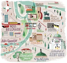 Anna Simmons - Map of Belgrade