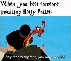 Harry Potter memes: Ah, I Love Mulan Memes. I Also Love Harry Potter, ...