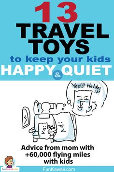 Best Travel Toys to keep your kids happy and quiet! I've listed toys from Toddler to Preschooler age. I am also sharing tips and advice of how to keep kids happy in-flight. Hope this helps! Tokyo Japan Travel, Japan Travel Guide, Travel Toys For Toddlers, Travel With Kids, Traveling With Baby, Traveling By Yourself, Tokyo Holidays, Japan With Kids, Japanese Travel