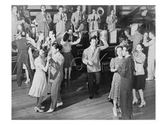 Couples dancing to the orchestra of the Roseland Ballroom, New York City,