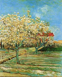 Vincent VanGogh,Orchard In Blossom, Arles, France