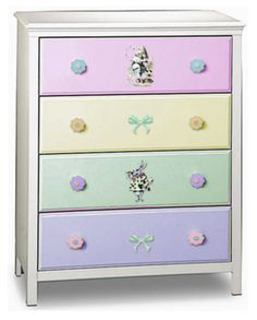 Pastel Drawered Chest from oldhousephotogallery Furniture Hardware, Cabinet Furniture, Furniture Makeover, Painted Furniture, Soothing Colors, Soft Colors, Pastel Colors, Pastels, Painted Chest