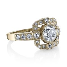 Vintage Inspired Engagement Ring available at Harold Stevens Jewelers