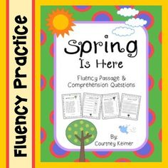 Spring Is Here Fluency Passage and Comprehension Questions 2nd Grade Reading Worksheets, Thing 1, Comprehension Questions, Spring Is Here, Sight Words, Calculator, Texts, Poems