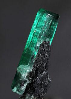 Emerald crystal on matrix