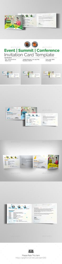 Event  Summit  Conference Invitation Card Template  Card