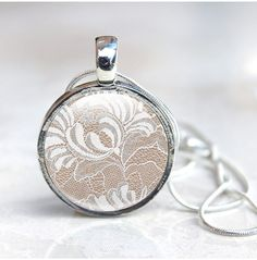 Lace Jewellery  Lace necklace Lace pendant photo by GlassCharmed, £12.99