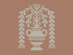 Alt's Vase by Brett Stenson Simple Illustration, Character Illustration, Greek Mythology Art, Identity, Pottery Painting Designs, Simple Prints, Branding, Lettering, Stop Motion