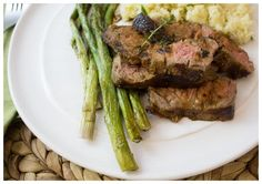 Mashed cauliflower is our go-to healthy sub for mashed potatoes, and trust us – it's delicious! Served with seared steak and green beans almondine, you've got a healthy, but filling meal.
