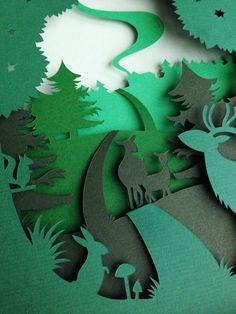 Paper sculpture / Paper Art / Paper Cut by AtelierPerTwee on Etsy