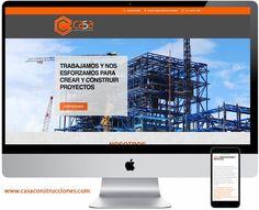 Diseño de página web para Casa Construcciones #Saltillo.  www.casaconstrucciones.com