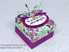 Beautiful reinforced gift box - YouTube