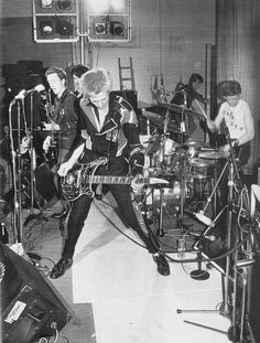The Clash on stage at The Coliseum, a sex cinema in Harlesden, March 1977