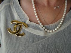 Chanel Brooch by brocantic on Etsy, $144.00