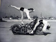 Back in the day, as they say, a woman riding a motorcycle was a pretty extraordinary thing. The early women motorcycle stunters paved the way.