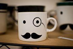 Mustache mug is classy..