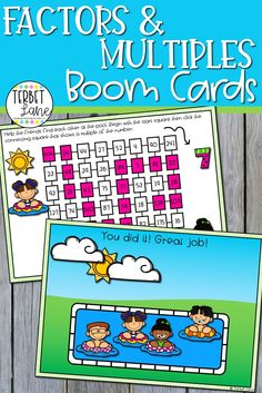 This set of math Boom Cards makes learning about multiples of a number more fun. Students practice finding the multiples of 2 numbers with these two completely digital activities. Perfect for math centers, distance learning, and homeschool. Primary Resources, Learning Resources, Kids Learning, Teaching Ideas, Interactive Activities, Hands On Activities, Math Activities, Fourth Grade, Second Grade