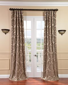 Decoration: Curtain Curtains Rods Lacy Knitted Glass Window Treatment Frame Brown Wood Grey Aluminum Gold Color Iron Brass Bronze Silver Astoria Taupe Mushroom Faux Silk Jacquard Wall Stained Cream Wooden Floor White Door: Varieties Of Curtains That Can Modernize The Window Treatment