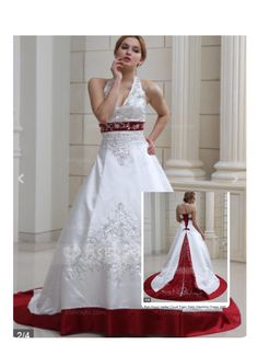 This is a ball-gown halter court train satin wedding dress w/embroidered beading sequins for $246.99. Found on JJ's house.hope you like