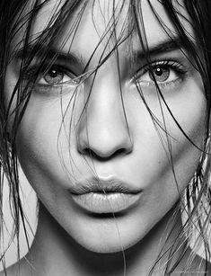 Barbara Palvin in black & white | Model | More sexy women models at sexy-calendars.com