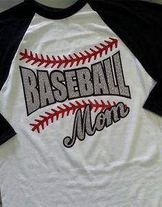 **bombers mom Baseball MOM Raglan Glitter T-Shirt Baseball or Softball – parmley's needleworkx Baseball Shirts For Moms, Sports Mom Shirts, Baseball Sister, Baseball Boys, Baseball Mom Shirts, Softball Mom, Baseball Stuff, Team Mom, Shirt Designs