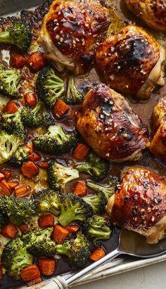 Slow Cooker Honey Garlic Chicken with Veggies Recipe Best Dinner Recipes, Side Recipes, Delicious Recipes, New Recipes, Whole Food Recipes, Easy Recipes, Cookie Recipes, Breakfast Recipes, Easy Meals