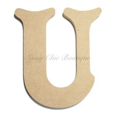6 36 inch unfinished wooden letter uppercase u victorian