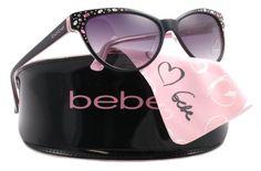 Bebe Sunglasses Bb 7024 Black 001/black Rose Bb7024